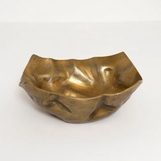 Holländer 207 3563 Dekoschale Rustica Gross Aluminium Gold