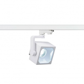 SLV Euro Cube LED Spot 60° inkl. 3P.-Adapter 3000K CRI90 Weiß 152751