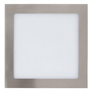 Eglo 31678 Fueva 1 LED Einbauleuchte 22, 5 x 22, 5cm 2080lm Nickel-Matt
