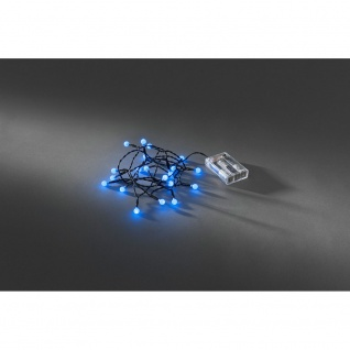 LED Globelichterkette runde Dioden Timer 20 blaue Dioden batteriebetrieben für Innen