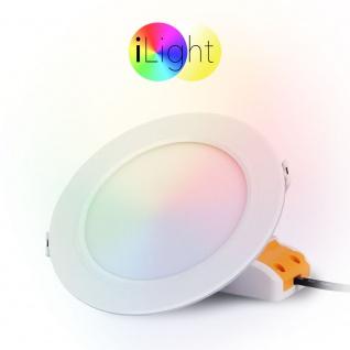 iLight LED-Einbaupanel iLight Ø14cm 720lm RGB + CCT LED-Lampe Farbwechsel & Dual White