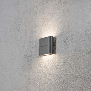 Konstsmide 7972-370 Chieri LED Aussen-Wandleuchte Anthrazit opales Acrylglas