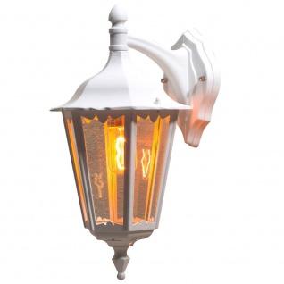 Konstsmide 7212-250 Firenze Aussen-Wandleuchte Weiß klares Glas