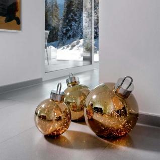 Weihnachtskugel Ornament 30cm Goldfarben mit Lichteffekt