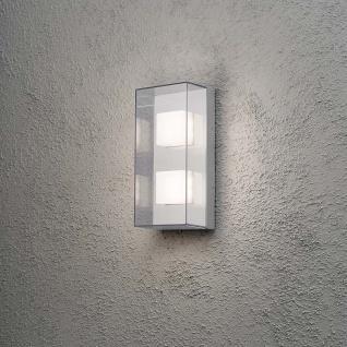 Konstsmide 7936-310 Sanremo LED Aussen-Wandleuchte Grau klares Polycarbonat Glas (bruchsicher)