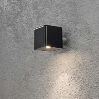 Konstsmide 7681-750 Amalfi LED Aussen-Wandleuchte inkl. Trafo 12V Schwarz