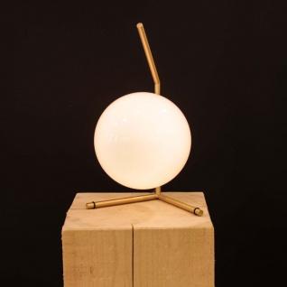 FLOS IC T1 LOW Tischleuchte Ø 20cm Messing Design Tischlampe Designerleuchte