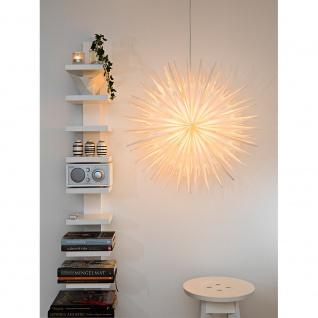 Konstsmide 2936-200 Weißer Papierstern inkl. Anschlusskabel mit an/aus Schalter ohne Leuchtmittel E14 Lampenhalterung für Innenbereich