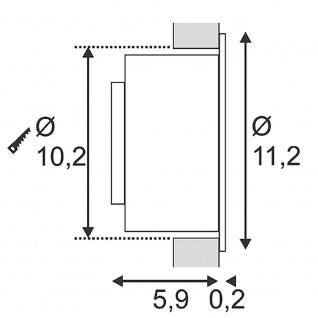 SLV 146362 GILALED Wandleuchte weiss 3W LED 3000K inkl. Positions-LED warmweiss - Vorschau 3