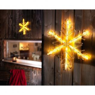 LED Acryl Schneeflocke 24 Warmweiße Dioden 24V Außentrafo