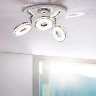 Licht-Trend Sempre Tres drehbarer LED-3er Spot Chrom Deckenlampe