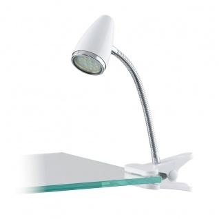 Eglo 94329 Riccio 1 LED Klemmleuchte 1 x 3 W Kunststoff Stahl Weiß Chrom Stahl Weiß Chrom