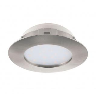 Eglo 95869 Pineda LED Einbaustrahler Ø 10, 2cm 1000lm Nickel-Matt