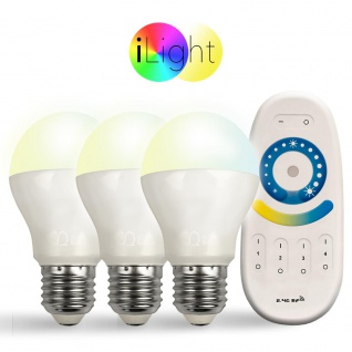 Starter-Set 3x E27 iLight LED + Fernbedienung CCT LED Leuchtmittel Lampe