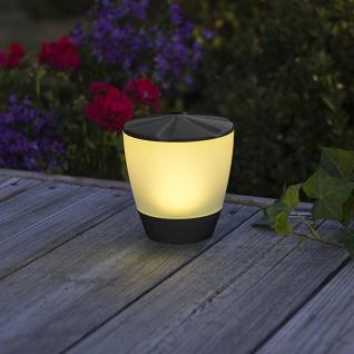 LED Solarleuchte Assisi Turner Schwarz Solar Gartenlampe Gartenleuchte