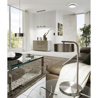 Eglo 94261 Estosa LED Tischleuchte 1 x 6 W Stahl Nickel-Matt Kunststoff Weiß