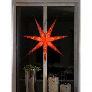 Konstsmide 2978-500 Roter Papierstern, perforiert, 7 Zacken, inkl. Anschlusskabel mit an/aus Schalter, ohne Leuchtmittel, E14 Lampenhalterung für Innenbereich