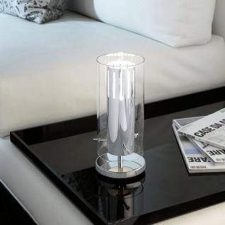 Pinto 2 Tischleuchte mit Schalter chrom klar Tischlampe