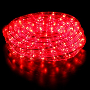 LeuchtenDirekt 86020-14 Deko LED-Lichtschlauch ELVIS 6m rot Dekolampe Aussen