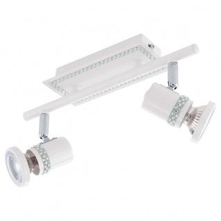 Eglo 94283 Bonares LED Spot 2 x 33 W Stahl Weiss Chrom Kristall klar