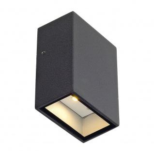 SLV Quad 1 Wandleuchte eckig anthrazit LED 1x3W 3000K 232465