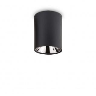 Ideal Lux LED Deckenleuchte Nitro 10W Rund Schwarz 206004