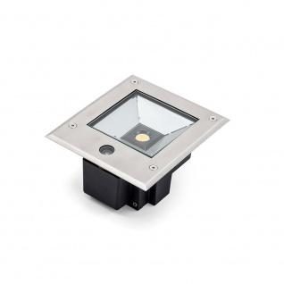 Konstsmide 7954-310 High Power LED Bodeneinbaustrahler 1000lm inkl. Dämmerungssensor Edelstahl