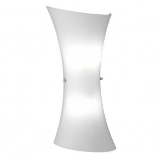 Wofi Zibo Glas Wandleuchte 35cm 2-flammig Opalweiss Wandlampe