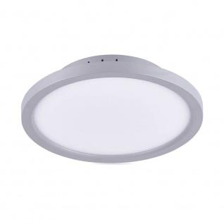 Licht-Trend Q-Flat Ø30cm LED Deckenleuchte 3000K Silber LED-Deckenlampe