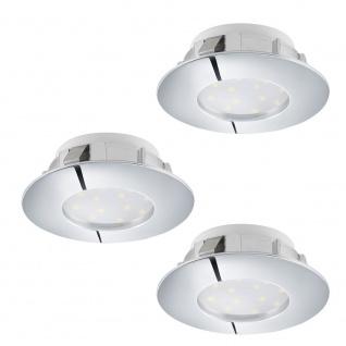 Eglo 95815 Pineda LED Einbaustrahler 3er-Set 3 x 500lm Chrom