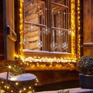 Weihnachtsbeleuchtung Kaufen.Led Acrylvorhang Schneeflocken 84cm Kaltweiß Ip44 Weihnachtsbeleuchtung