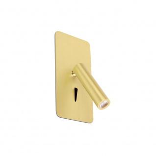 Suau LED Wand-Einbauleselampe Satin Gold 3000K
