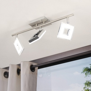 Licht-Trend Sempre Cube drehbarer LED 3er-Deckenspot Strahler Deckenlampe Chrom