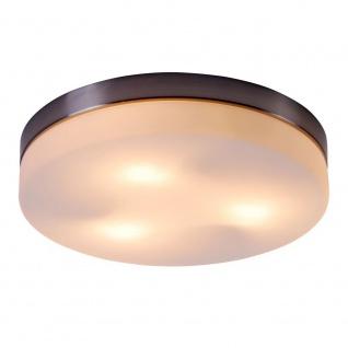Globo 48403 Opal Deckenleuchte Nickel-Matt Glas opal 3x40W E27