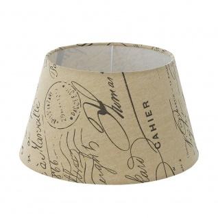 Eglo 49987 1+1 Vintage Lampenschirm Ø 25cm bedruckt Weiß Braun
