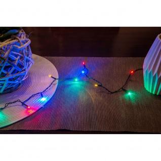 Micro LED Lichterkette verschweißt 20 bunte Dioden 24V Innentrafo dunkelgrünes Kabel - Vorschau 4