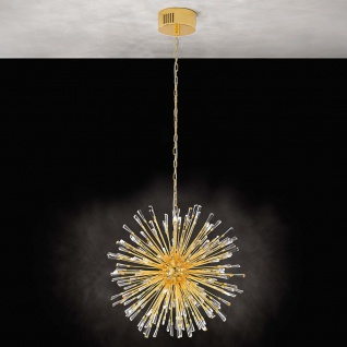 Eglo 39255 Kristall LED Hängelampe Vivaldo 1 Vergoldet Klar
