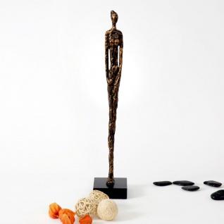 Holländer 419 3504 Figur Respetto Klein Aluminium-Holz Gold-Schwarz