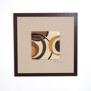 Holländer 306 3183 Wandbild Temporale Holz-Leinwand-Glas Natur-Gold-Braun