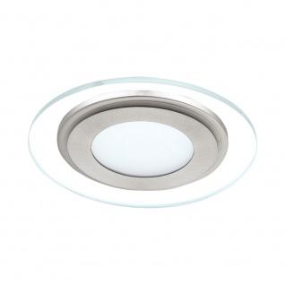 Eglo 95932 Pineda 1 LED Einbauspot 1000lm Weiß Nickel-Matt Klar Satiniert