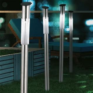 3er-Set Edelstahl Solar-Spieß 70cm Solar Gartenlampe Gartenleuchte