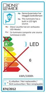 Konstsmide 700-320 Mode LED Aussen-Wandleuchte 700lm 3000K galvanisierter Stahl Polycarbonat Glas - Vorschau 5