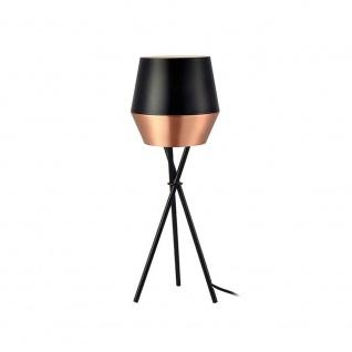 s.LUCE LED Tischleuchte SkaDa Ø 20cm Kupfer Schwarz Nachttischleuchte Tischlampe - Vorschau 3