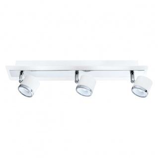 Eglo 94558 Pierino 1 LED Spot 3 x 5 W Stahl Weiß Chrom