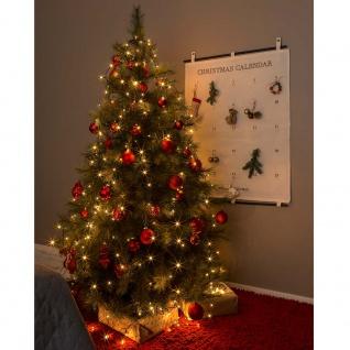 Konstsmide 6365-810 LED Baummantel mit Ring 8 Stränge à 30 Dioden vormontiert mit Glimmereffekt 240 bernsteinfarbene Dioden (120 glimmend) 24V Innentrafo dunkelgrünes Kabel