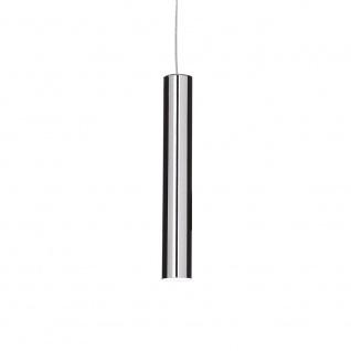 Ideal Lux 104942 Look Pendelleuchte Zylinder Ø 6cm Chrom