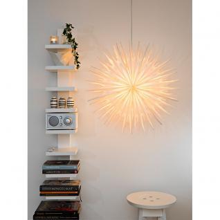 Konstsmide 2936-200 Weißer Papierstern, inkl. Anschlusskabel mit an/aus Schalter, ohne Leuchtmittel, E14 Lampenhalterung für Innenbereich