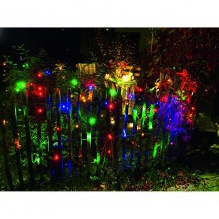 LED Lichternetz 120 bunte Dioden 24V Außentrafo