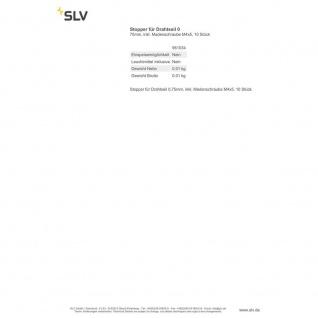 SLV Stopper für Drahtseil 0, 75mm inkl. Madenschraube M4x5 10 Stück 961034