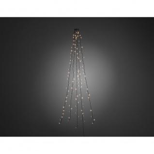 LED Baummantel mit Ring für Weihnachtsbaum 5 Stränge 50 Dioden 250 Warmweiße Dioden 24V Innentrafo